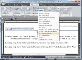 apa format on word using microsoft word to create references and bibliographies0