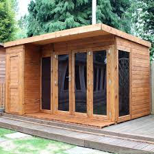 office garden shed. Cotswold 12x8 Modern Garden Room With Side Shed Greenhouse Office