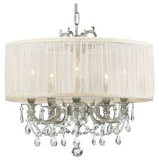 crystorama 5535pwsaw bwood 5 lamp chandelier semi flush ceiling light in pewter with loading zoom