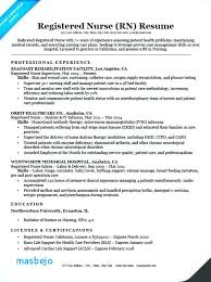 Registered Nurse Resume Objective Statement Examples Entry Level