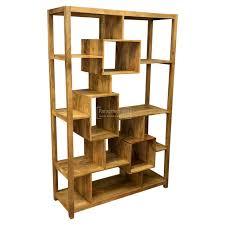Ambala Cube Light Mango Wood Multi Shelf Display Unit Bookcase
