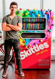 Antonio Brown Skittles Vending Machine New Joe Jonas SKITTLES CANDY MACHINE OCEANUP TEEN GOSSIP