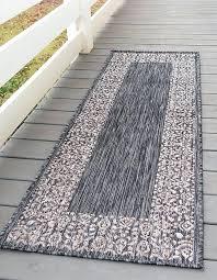 charcoal gray rug gilles light area 6 ft runner outdoor border
