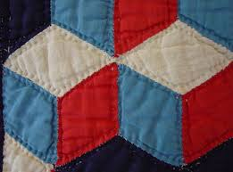 Baby Block Quilt Patterns Mesmerizing CubeTumbling Blocks Quilt Cindy Rennels Antique Quilts