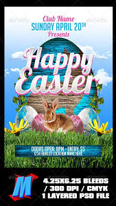 Happy Easter Flyer Template Fonts Logos Icons Flyer