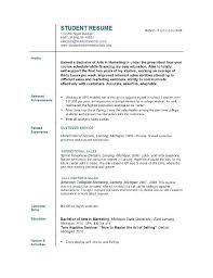 Graduate School Resume Format College Student Resume Sample Resume