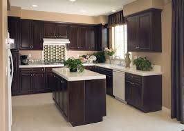 Kitchen Floor Remodel Amazing Dark Wood Cabinets With White Countertop As Well As Cool