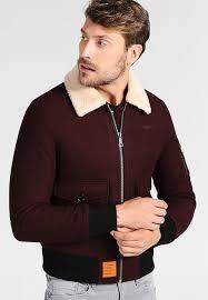 mens clothingers aviator winter jacket burdy au06452