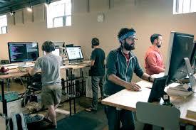 google office desk. Standing Office Better Than Sitting? [Video] Google Desk