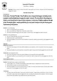 tips for an application essay a sound of thunder essay a sound of thunder essay bradbury