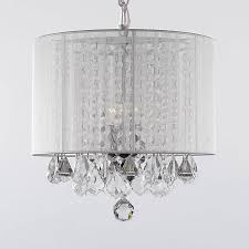 go a white c white wrought iron crystal chandelier