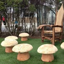 mushroom stool video game theme custom furniture. wonderful furniture i wish free range designs was in the us love all of furniture  especially slate tables storytelling chairs and playground mushroom stools on mushroom stool video game theme custom furniture