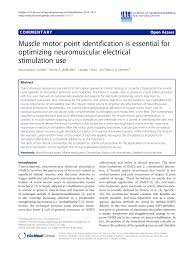 Motor Points For Electrical Stimulation Chart Pdf Muscle Motor Point Identification Is Essential For