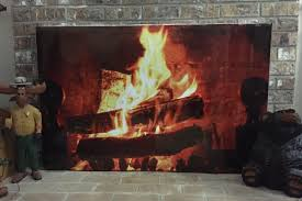 it s printed on relatively thick stock and the image itself looked stunning so now our artificial fire has been enhanced by a high quality poster overlay