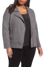 Nordstrom Rack Plus Size Coats Eileen Fisher Boiled Wool Moto Jacket Plus Size Nordstrom Rack 19