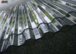 anti uv clear corrugated polycarbonate sheets with high light transamission images