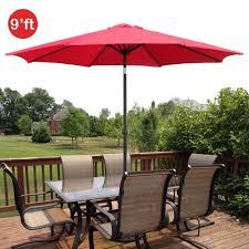 patio umbrella base red
