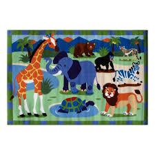 fun rugs olk 054 1929 wild animals kids rug multi color