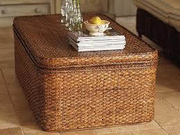 rectangle rattan coffee table with storage image and description