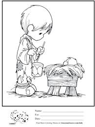 Small Picture Coloring Page Precious Moments Nativity Coloring Pages Coloring