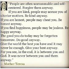Mother Teresa Quotes Love Them Anyway Fascinating Mother Teresa Quotes Love Anyway Custom Love Quotes Images Famous