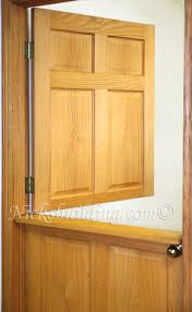 interior dutch doors include prehung with 4 9 16 solid wood stain grade jambs with 4 standard yellow zinc color hinges