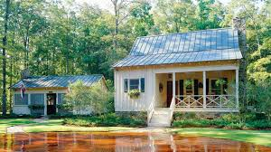 image of southern small lake house plans with screened porch