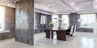 chic office design. Industrial Chic Office With Exposed Spiral Duct Design