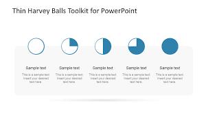 Harvey Balls Chart Template Thin Harvey Balls Toolkit Powerpoint Template