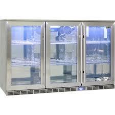 rhino 3 door alfresco outdoor glass door bar fridge model gsp3h ss wide
