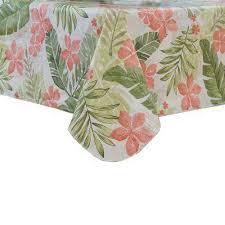 tropics 70 in multi round single vinyl tablecloth