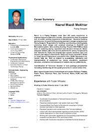 Pdms Piping Designer Resume Nazrul Mazdi Mokhtar Piping Designer