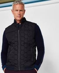 Quilted gilet - Navy | Tall Jackets & Coats | Ted Baker UK &  Adamdwight.com