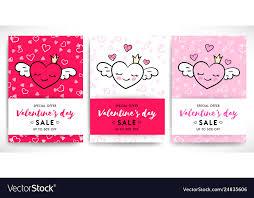 Valentines Flyers Valentines Day Sale Flyers Set