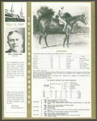 Details About 1887 Montrose Kentucky Derby Winner Race Chart Owner