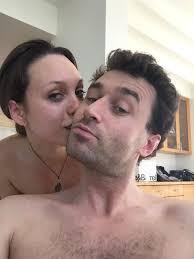 Selfie Bild von Pornostar James Deen und Jade nil Gesicht.