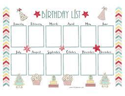 birthday calendar template free download free birthday calendar customize online print at home