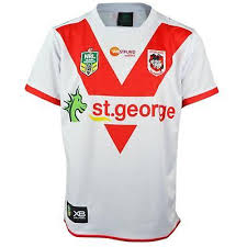 xblades st george dragons 2018 nrl rugby jersey white and red