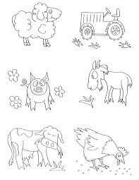 farm animal coloring pictures lofty animals pages for kids printable preschool colouring