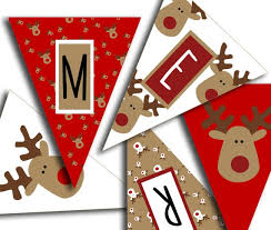 Merry Christmas Banner Christmas Party Printable Sign