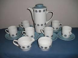 S p o n s o r e d. British Anchor Staffordshire Coffee Set 60 S Retro 239085378