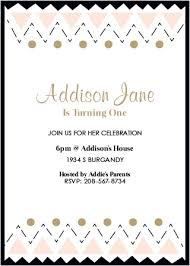 Tribal First Birthday Invitations By Basic Invite