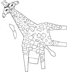 Giraffa Da Stampare Ritagliare Colorare E Incollare Disegni Da