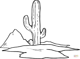 Small Picture Cactus coloring page Free Printable Coloring Pages