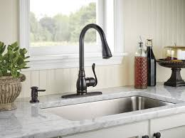 oil rubbed bronze kitchen faucets with rectangle sink and marble countertop for kitchen decoration ideas