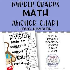 Division Steps Anchor Chart Long Division Anchor Charts Worksheets Teaching Resources