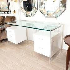 white desk vanity white glass desk with hanging lacquered drawers cool design white vanity desk with