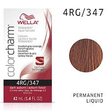 Wella Auburn Color Chart Wella Color Charm Liquid Hair Color 347 4rg Dark Auburn