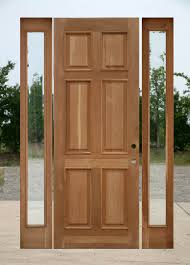 Oak Exterior Door With Two Sidelights - Hardwood exterior doors and frames