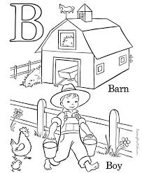 Alphabet Coloring Page Letter B